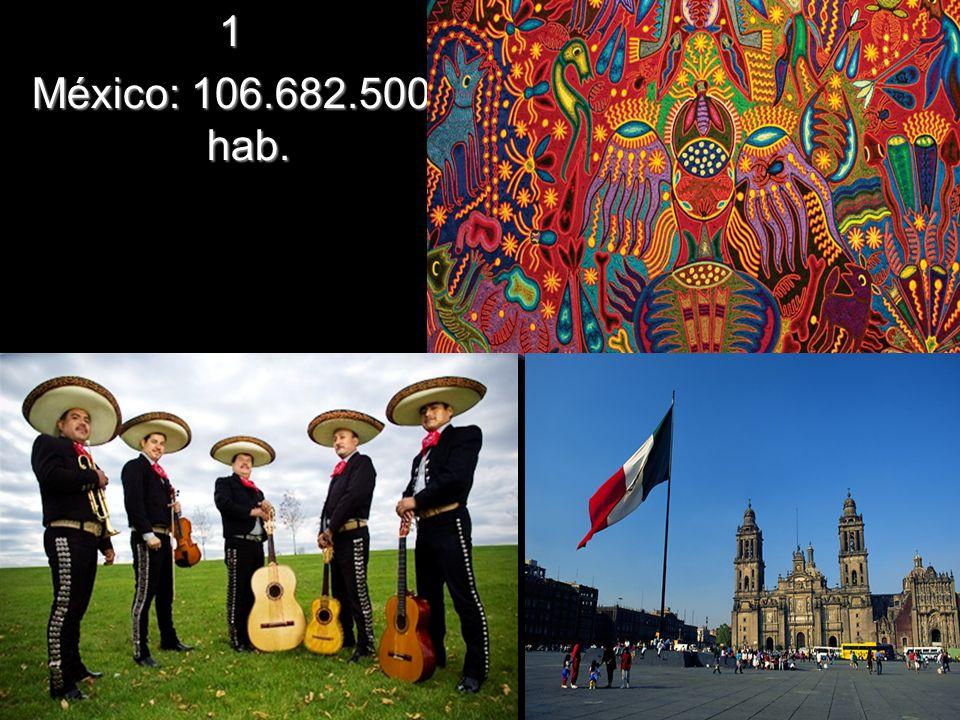 1 México: 106.682.500 hab.