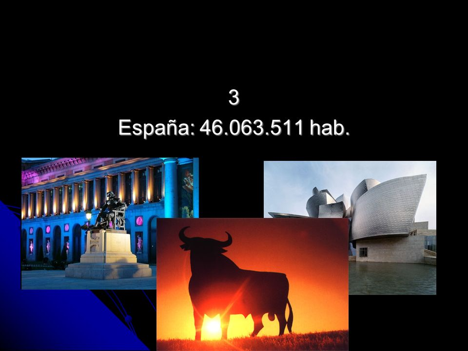 3 España: 46.063.511 hab.