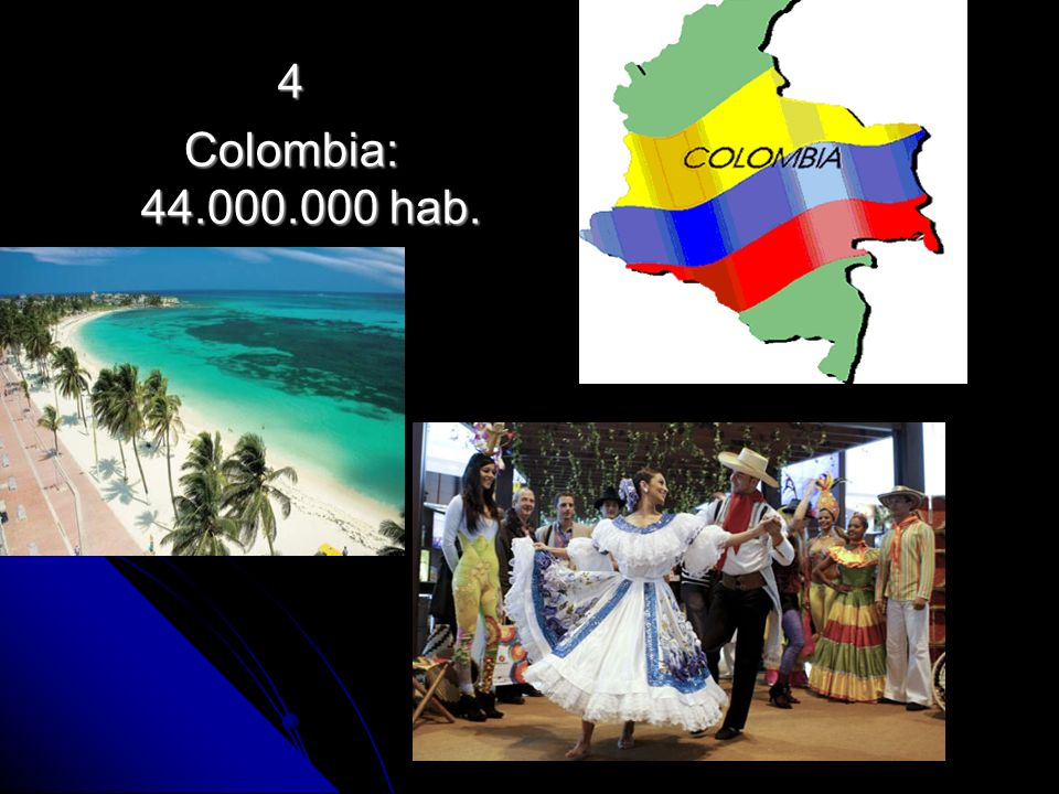 4 Colombia: 44.000.000 hab.