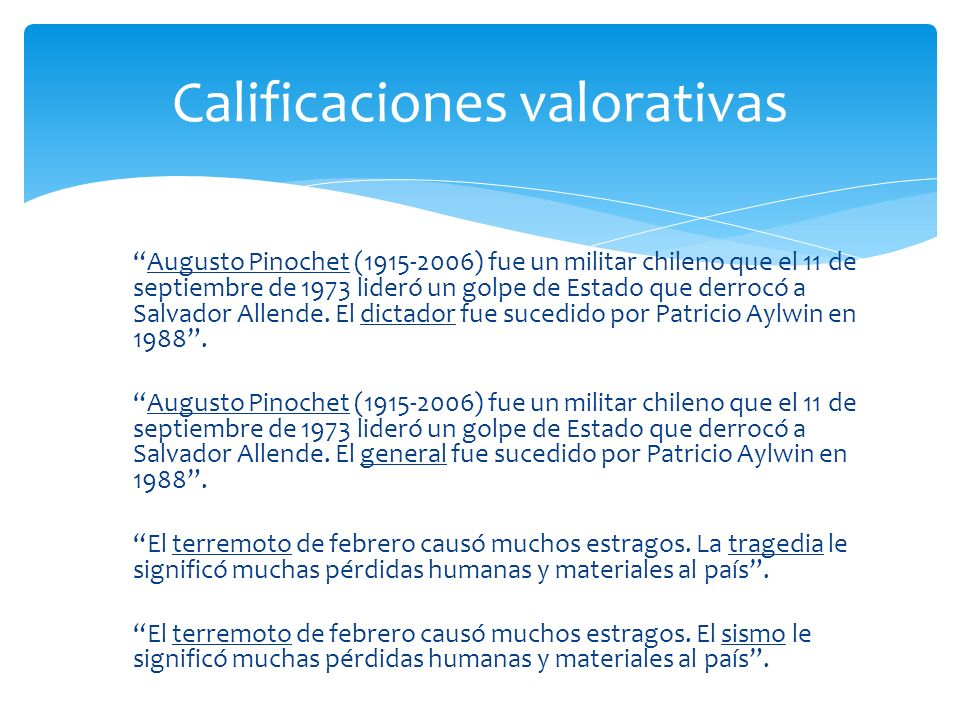 Calificaciones valorativas