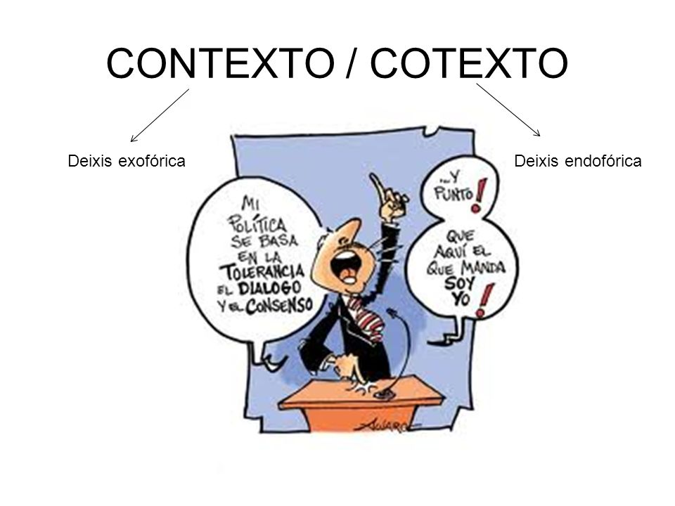 CONTEXTO / COTEXTO Deixis exofórica Deixis endofórica