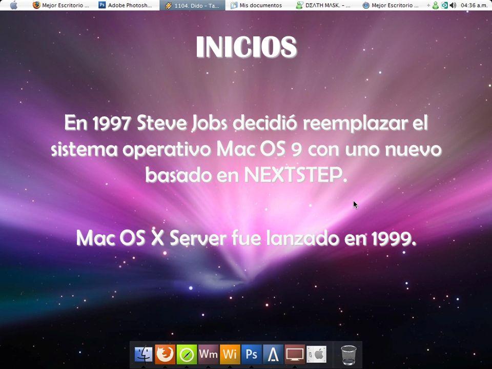 Mac OS X Server fue lanzado en 1999.