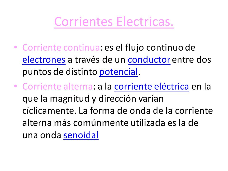 Corrientes Electricas.