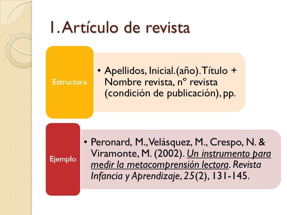 1. Artículo de revista Estructura
