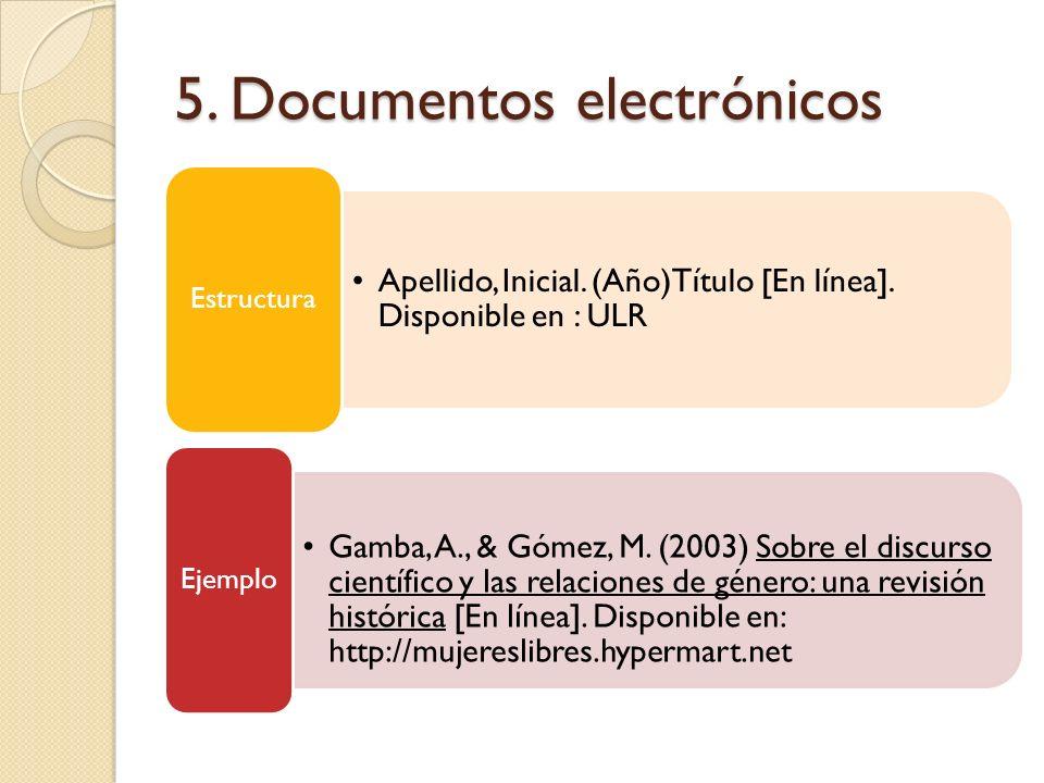 5. Documentos electrónicos