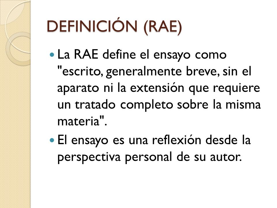 DEFINICIÓN (RAE)