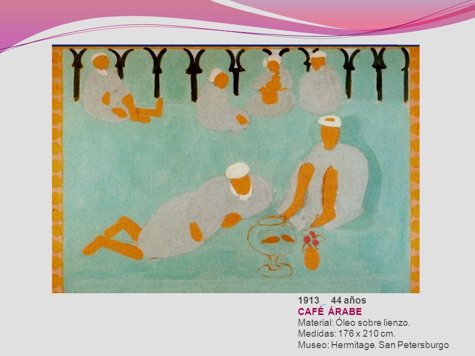 1913 44 años CAFÉ ÁRABE Material: Óleo sobre lienzo