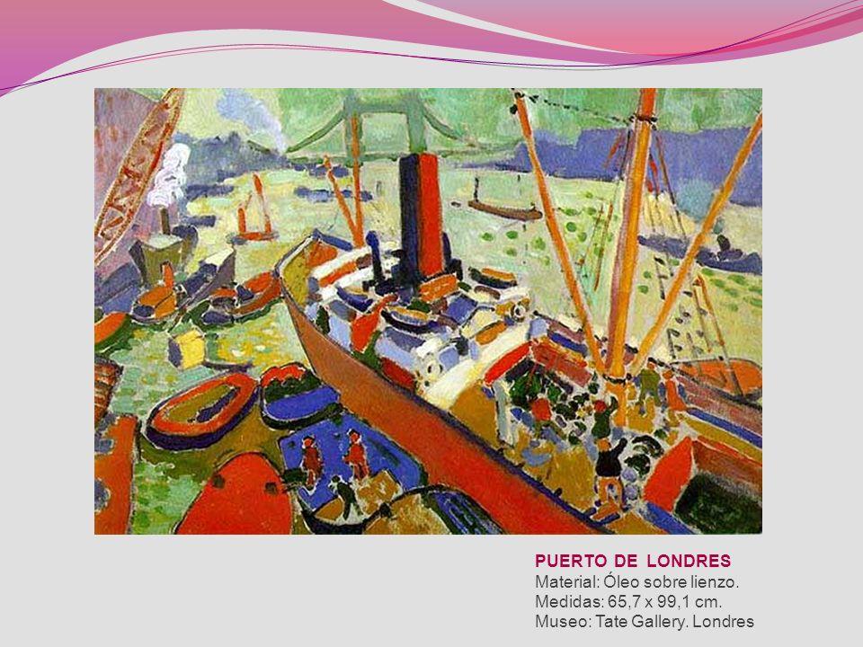 PUERTO DE LONDRES Material: Óleo sobre lienzo. Medidas: 65,7 x 99,1 cm