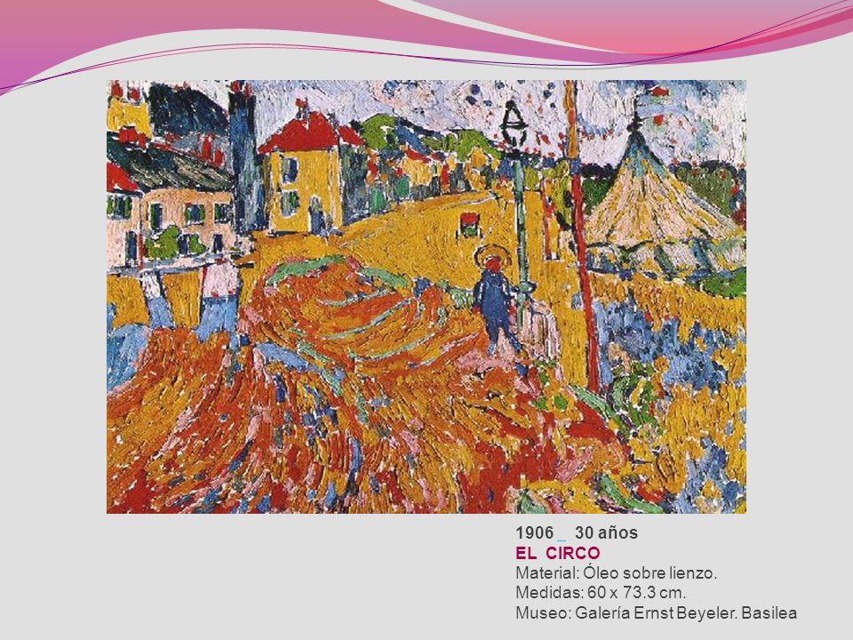 1906 30 años EL CIRCO Material: Óleo sobre lienzo.