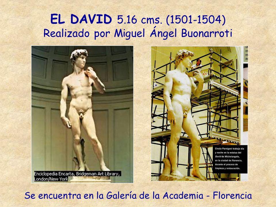 EL DAVID 5.16 cms. (1501-1504) Realizado por Miguel Ángel Buonarroti