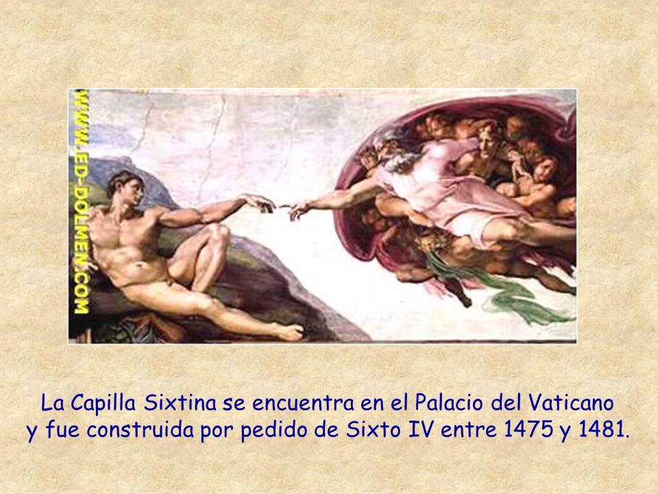 La Capilla Sixtina se encuentra en el Palacio del Vaticano
