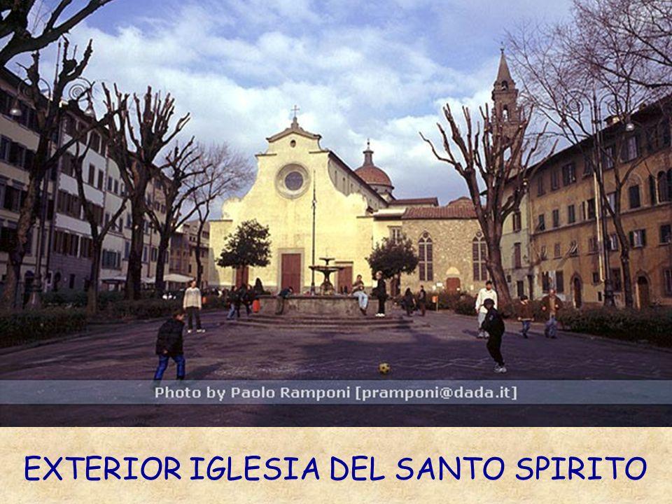 EXTERIOR IGLESIA DEL SANTO SPIRITO
