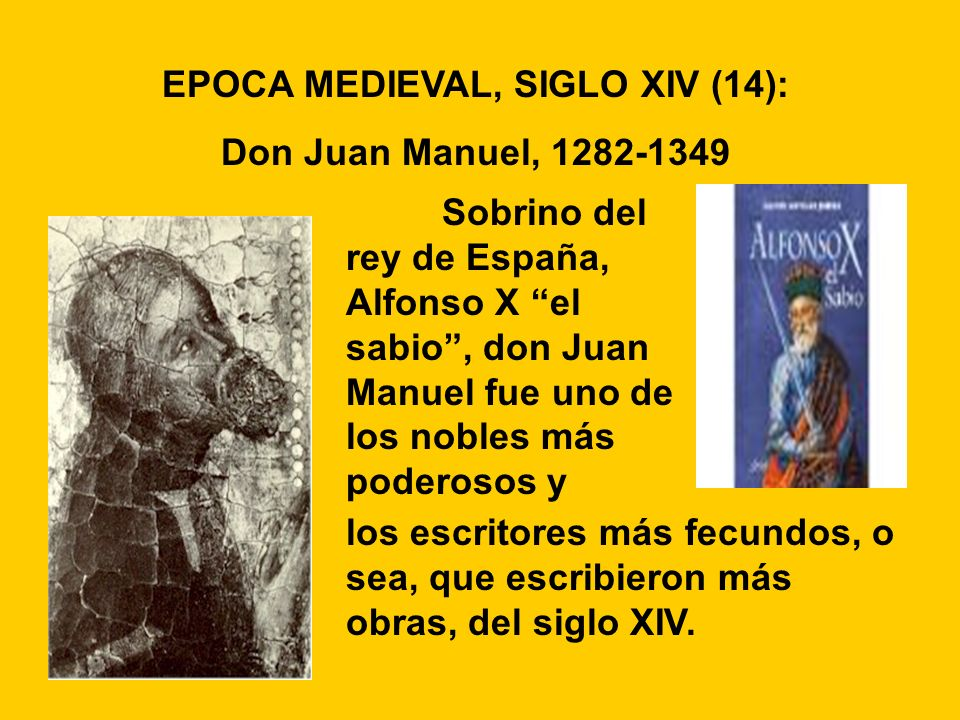 EPOCA MEDIEVAL, SIGLO XIV (14):
