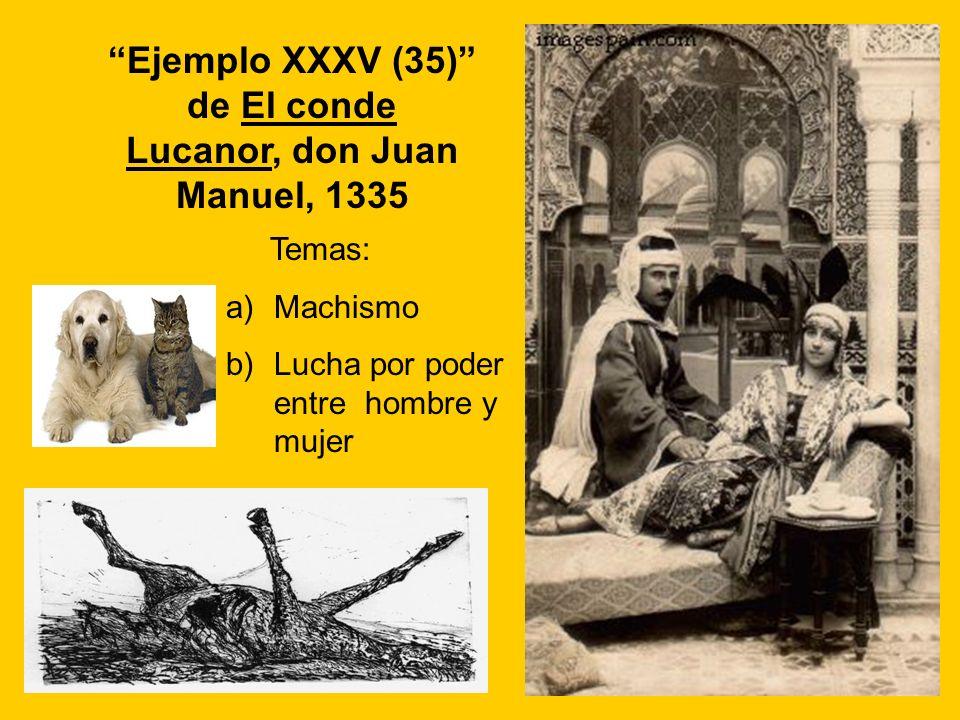 Ejemplo XXXV (35) de El conde Lucanor, don Juan Manuel, 1335
