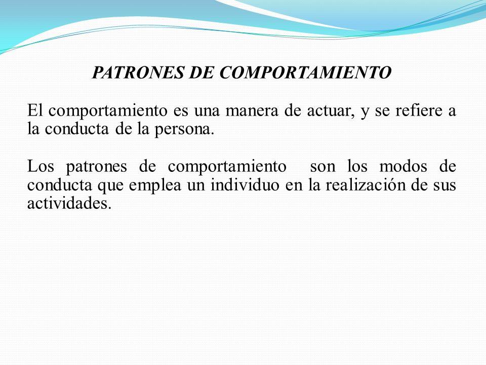 PATRONES DE COMPORTAMIENTO