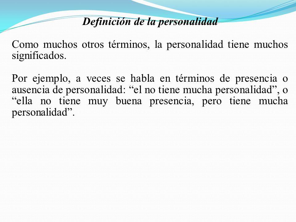 Definición de la personalidad