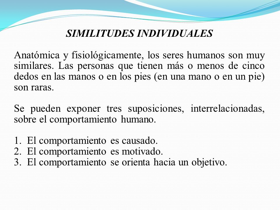 SIMILITUDES INDIVIDUALES