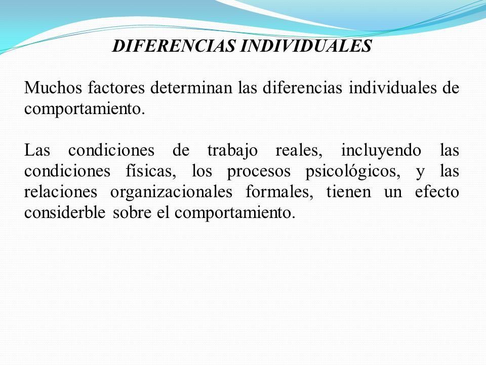DIFERENCIAS INDIVIDUALES
