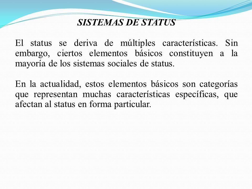 SISTEMAS DE STATUS