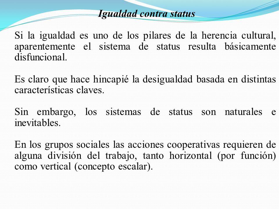 Igualdad contra status