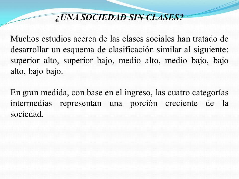 ¿UNA SOCIEDAD SIN CLASES