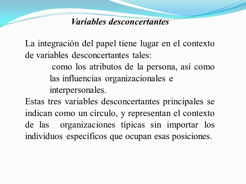 Variables desconcertantes