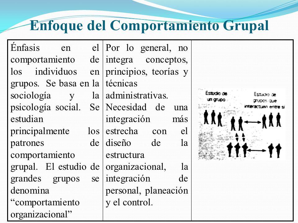 Enfoque del Comportamiento Grupal