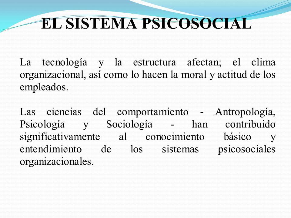 EL SISTEMA PSICOSOCIAL