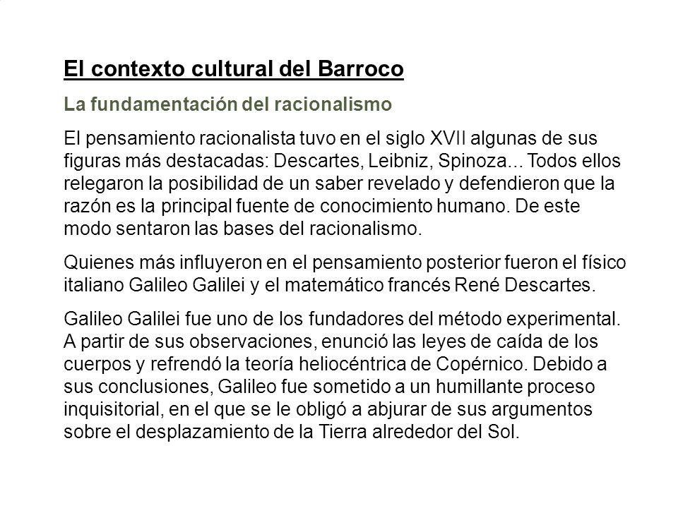 El contexto cultural del Barroco