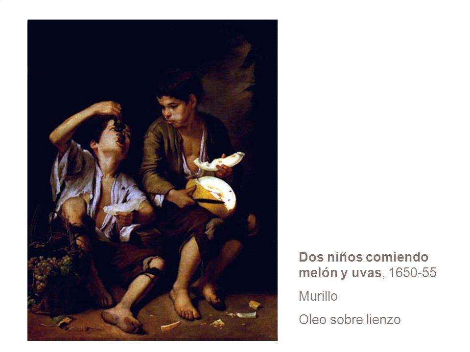 Dos niños comiendo melón y uvas, 1650-55