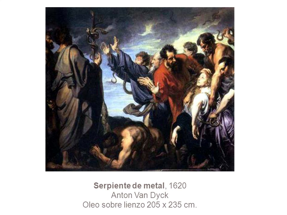 Serpiente de metal, 1620 Anton Van Dyck Oleo sobre lienzo 205 x 235 cm.