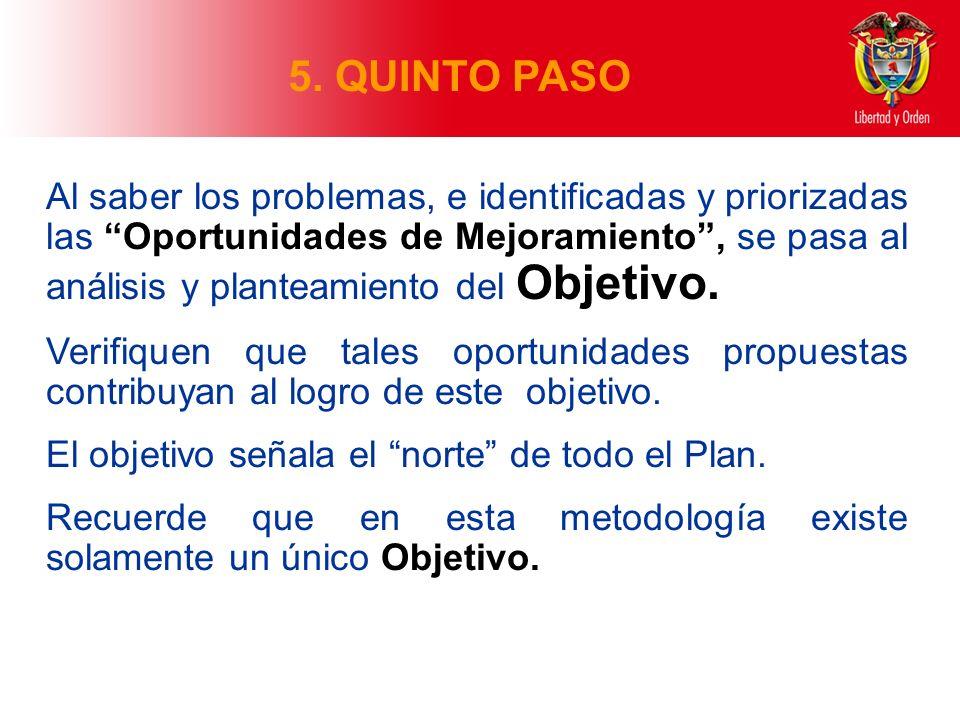 5. QUINTO PASO