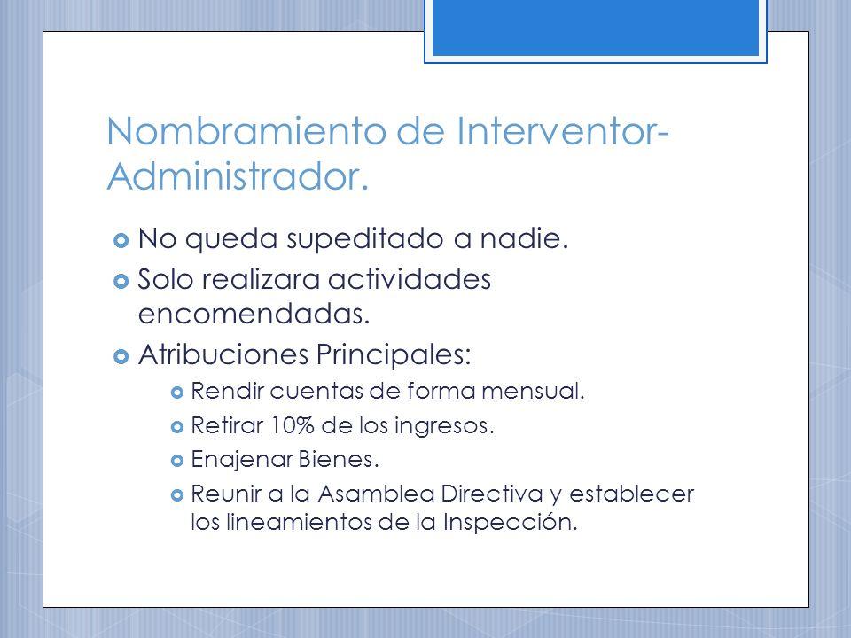 Nombramiento de Interventor-Administrador.