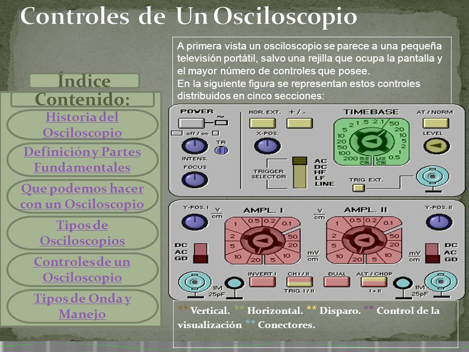 Controles de Un Osciloscopio