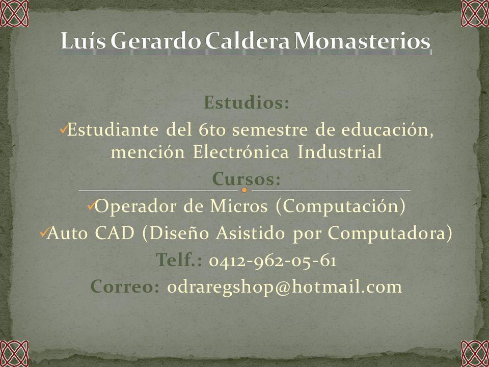 Luís Gerardo Caldera Monasterios