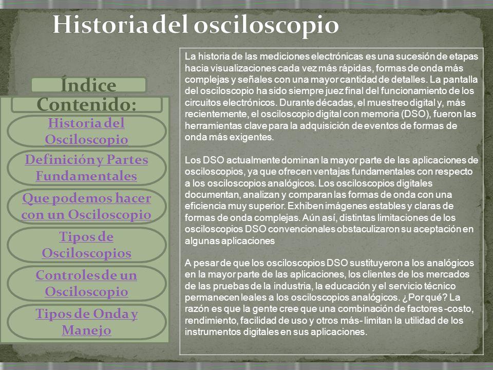 Historia del osciloscopio