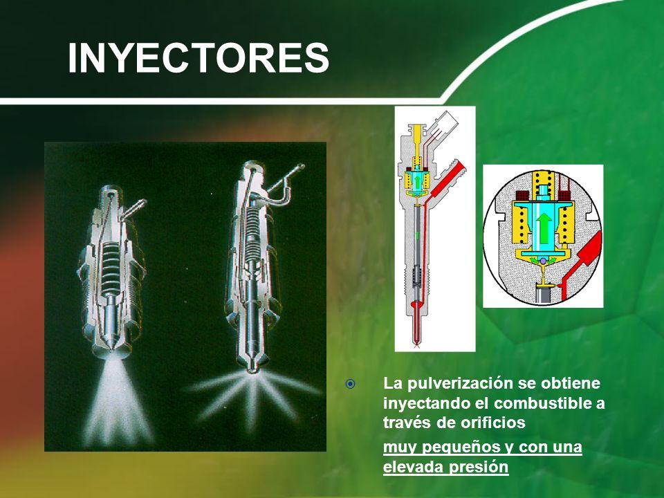 INYECTORES La pulverización se obtiene inyectando el combustible a través de orificios.