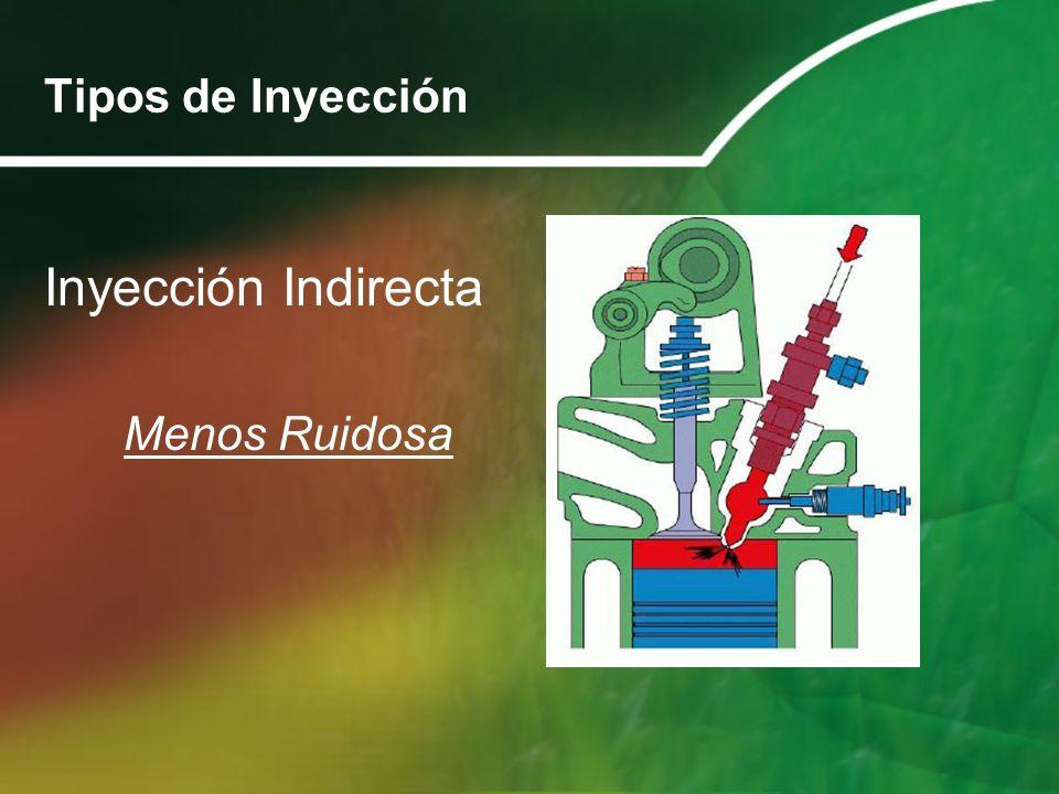 Tipos de Inyección Inyección Indirecta Menos Ruidosa