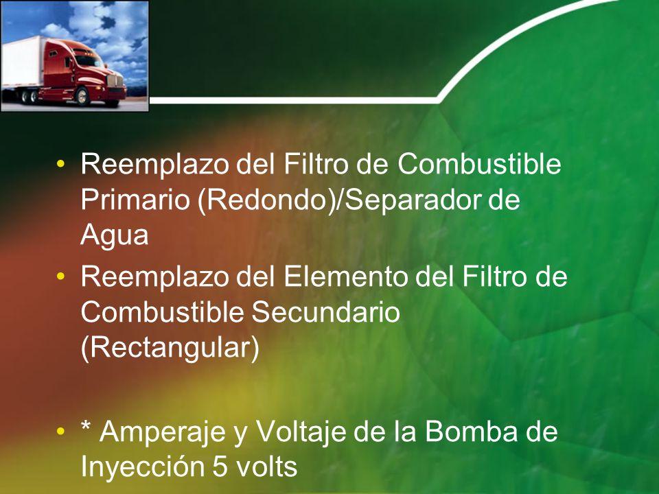 Reemplazo del Filtro de Combustible Primario (Redondo)/Separador de Agua