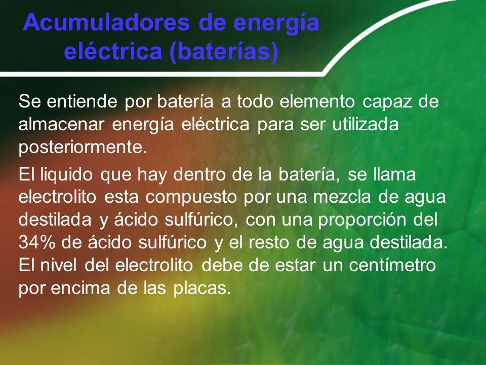 Acumuladores de energía eléctrica (baterías)