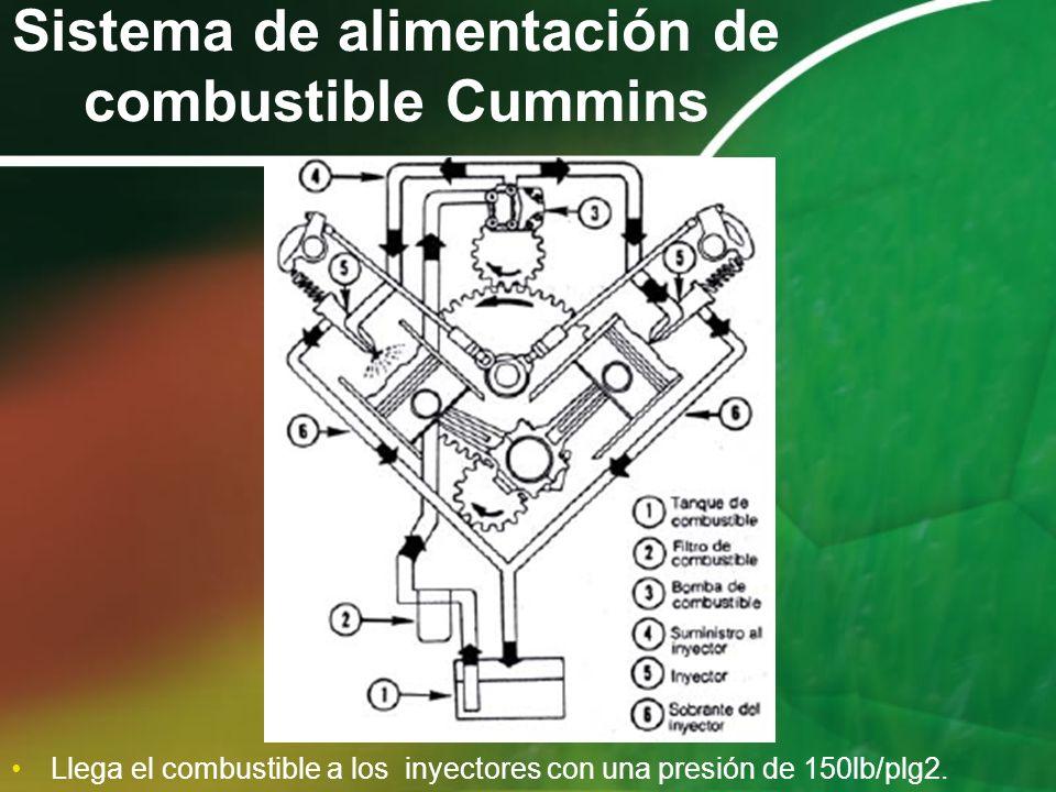 Sistema de alimentación de combustible Cummins