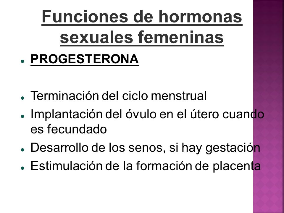 Funciones de hormonas sexuales femeninas