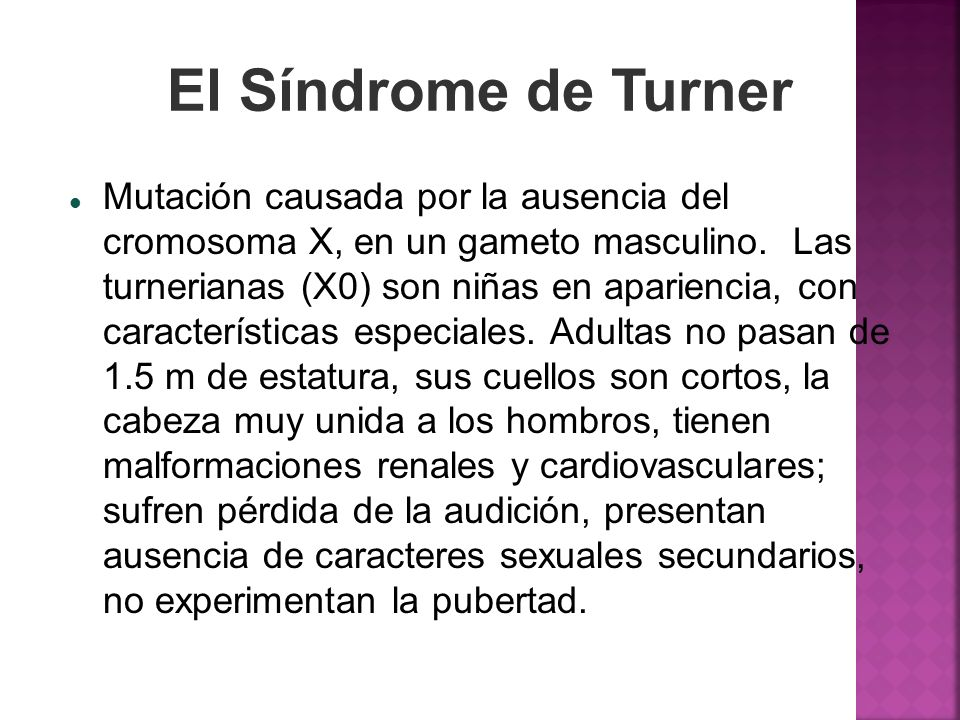 El Síndrome de Turner