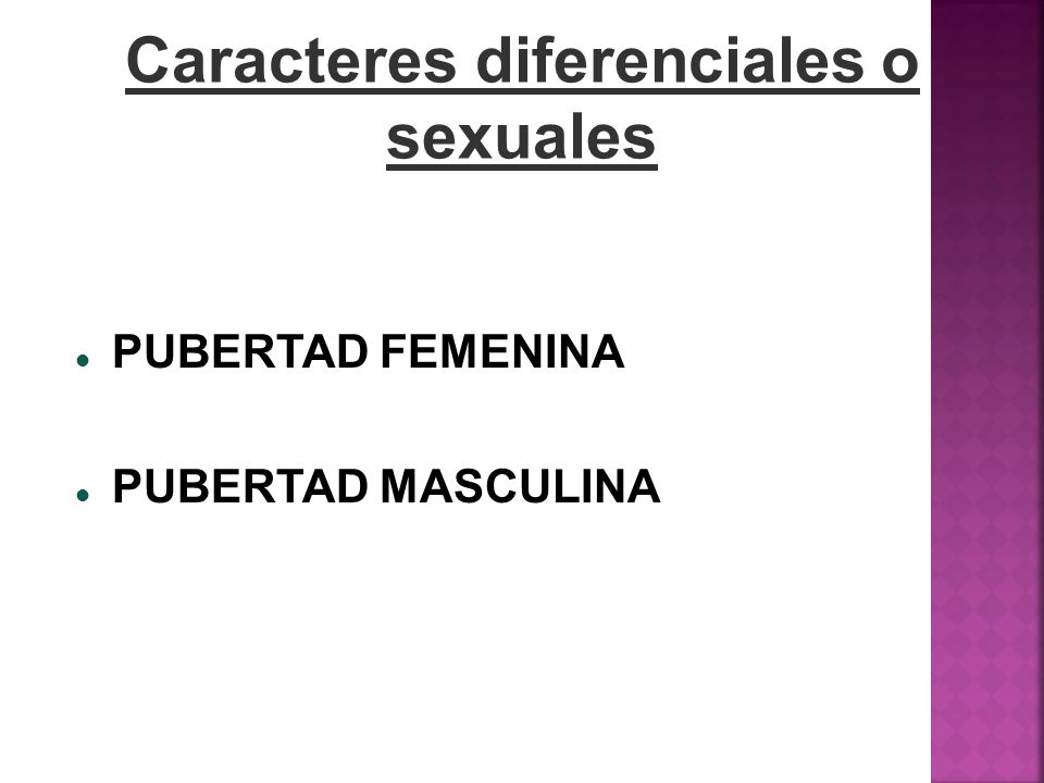 Caracteres diferenciales o sexuales
