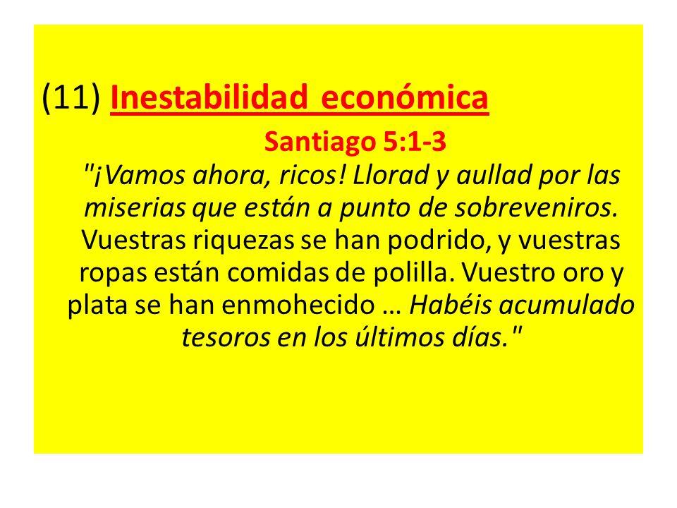 (11) Inestabilidad económica