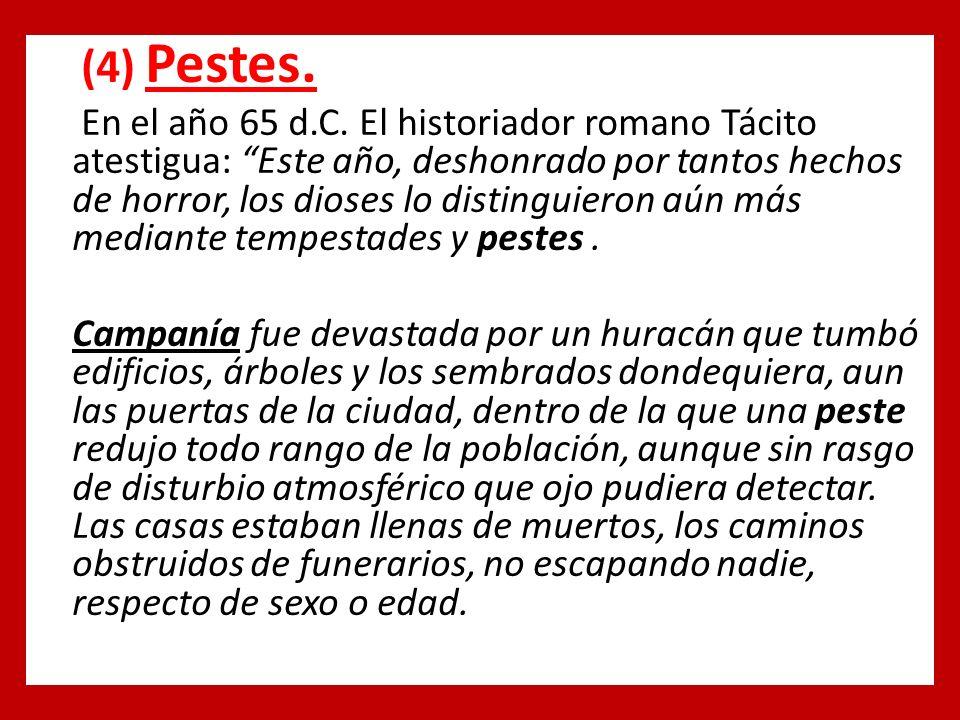 (4) Pestes. En el año 65 d.C.