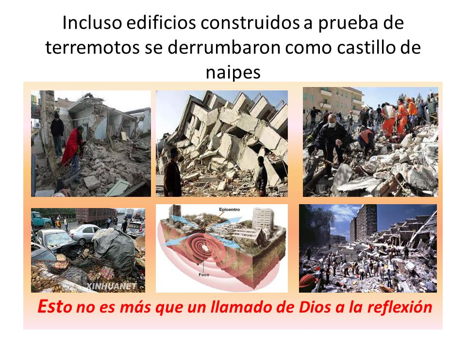 Incluso edificios construidos a prueba de terremotos se derrumbaron como castillo de naipes