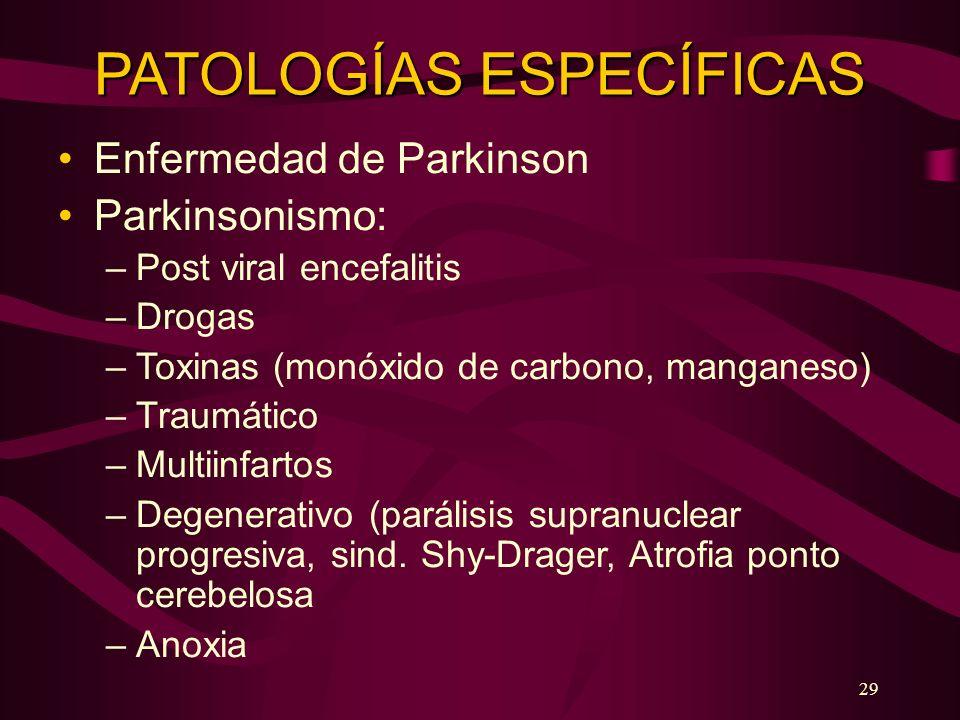 PATOLOGÍAS ESPECÍFICAS