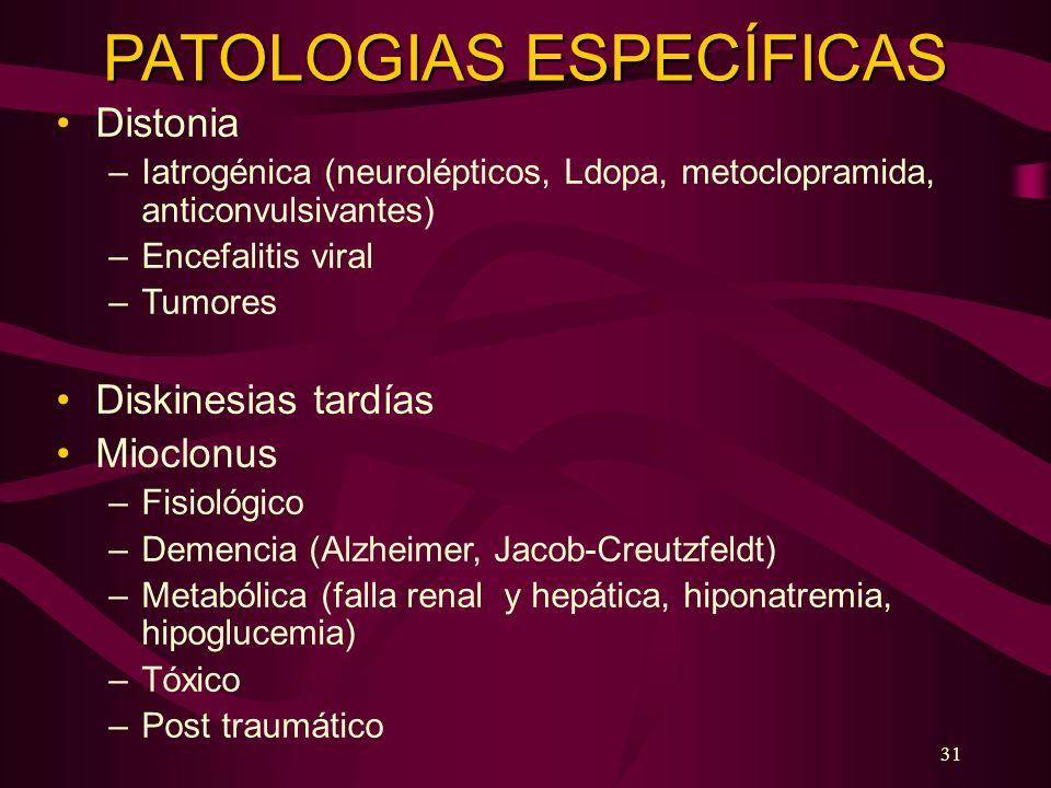 PATOLOGIAS ESPECÍFICAS