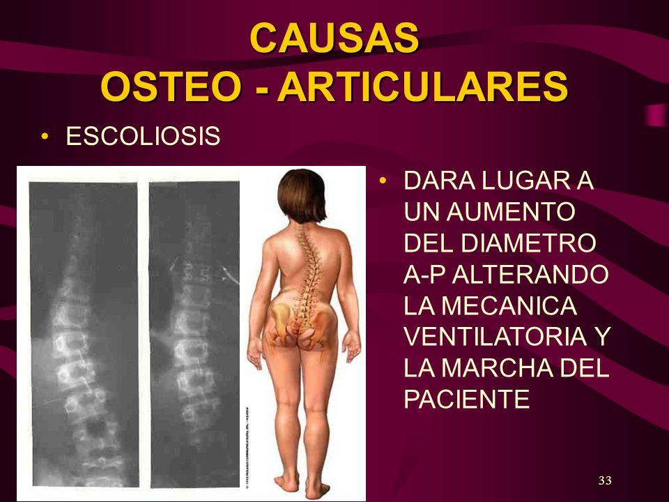CAUSAS OSTEO - ARTICULARES